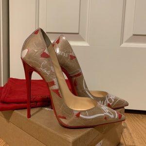 Christian Louboutin So Kate Kraft Paper Heels 38/8